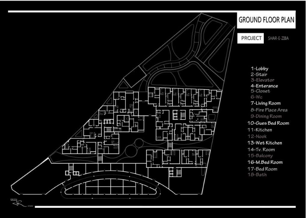 طراحی پلان مجتمع مسکونی