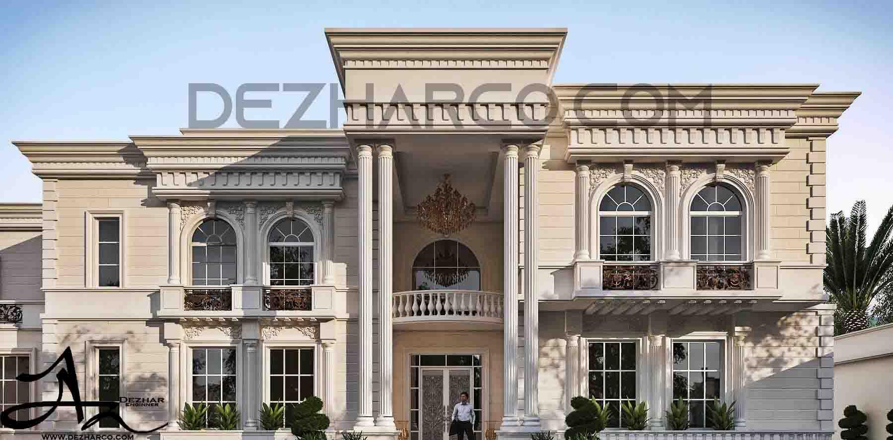 طراحی ویلا کلاسیک در کردان