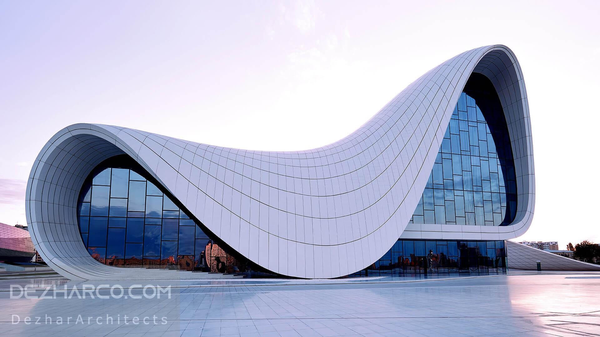طراحی نما ساختمان تجاری با شیشه