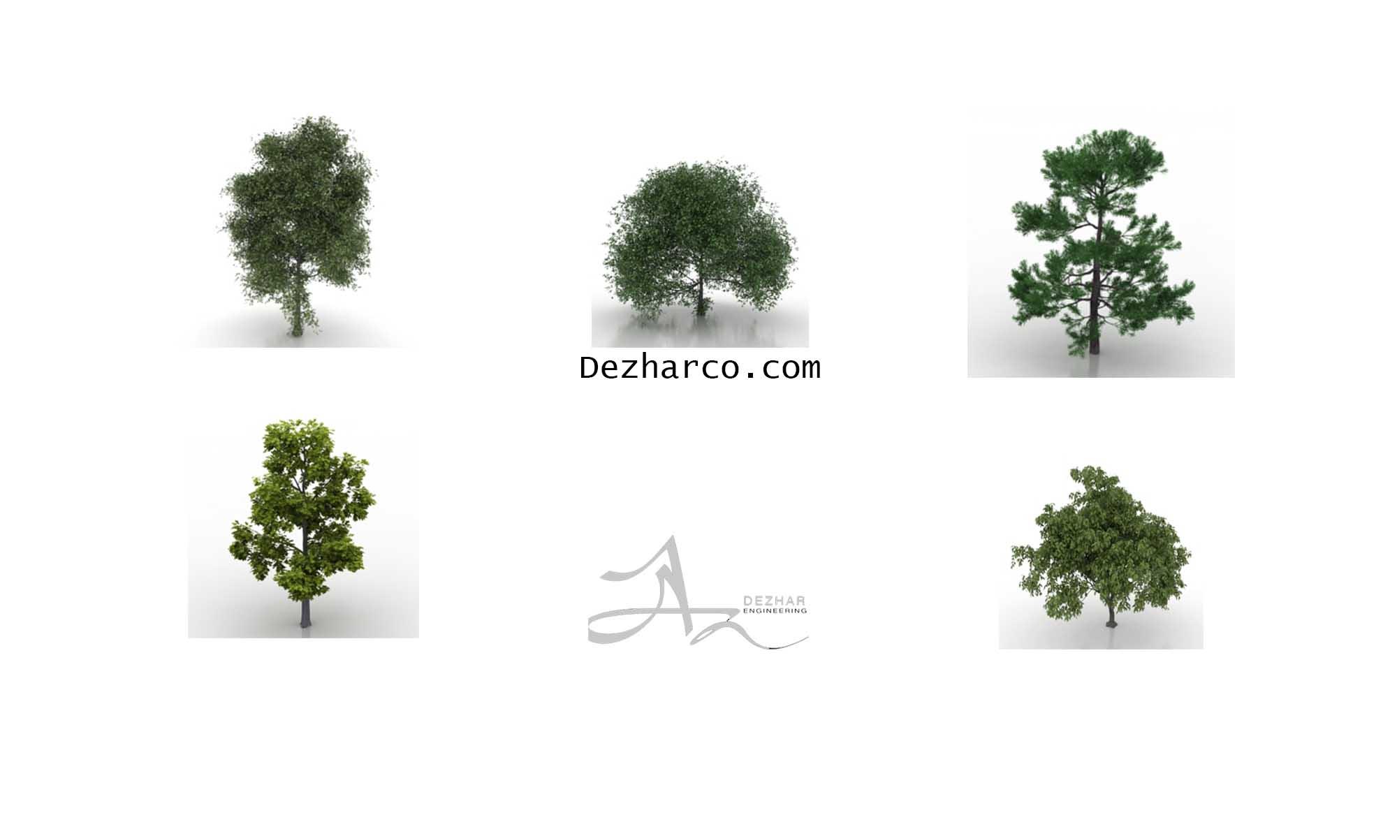 ابجکت اماده درخت