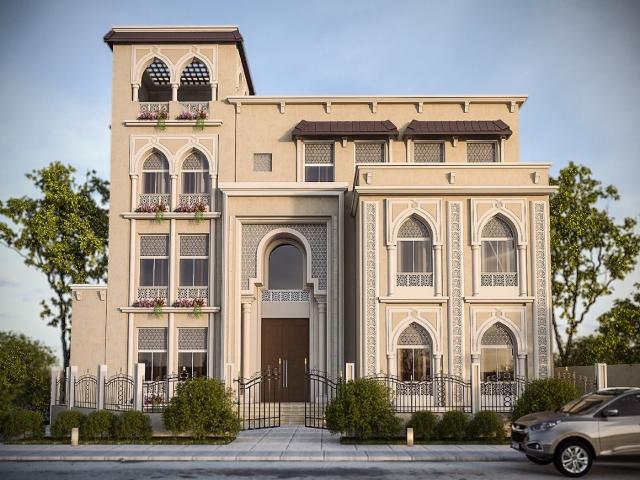 طراحی نما مدرن ساختمان مسکونی