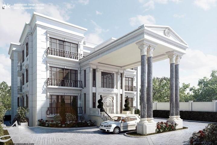 طراحی نما کلاسیک و رومی