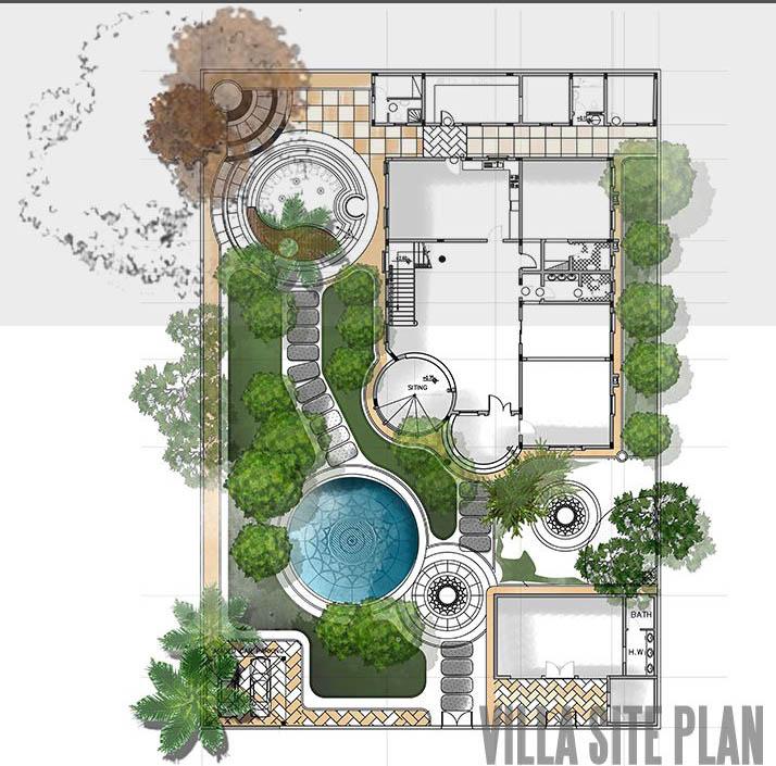 پلان ویلا باغ
