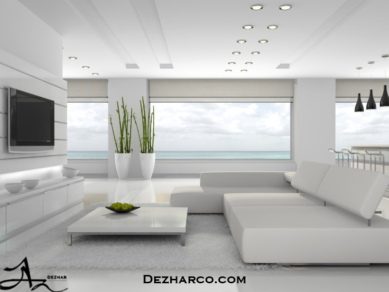 دکوراسیون داخلی خانه سفید