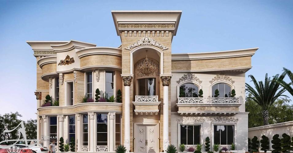 طراحی نما کلاسیک ساختمان و نما رومی