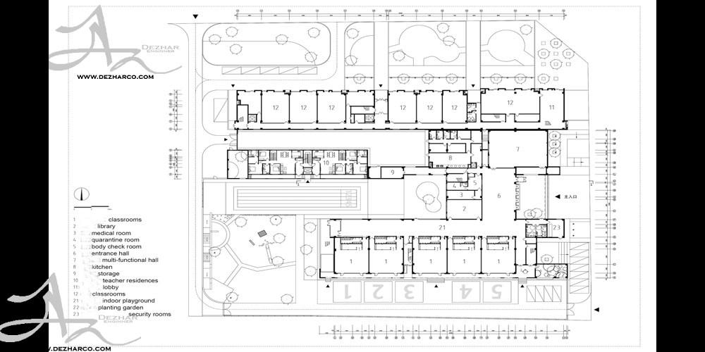 طراحی پلان مهدکودک