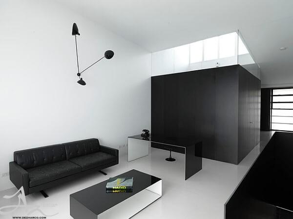 دکوراسیون داخلی به رنگ سفید مشکی