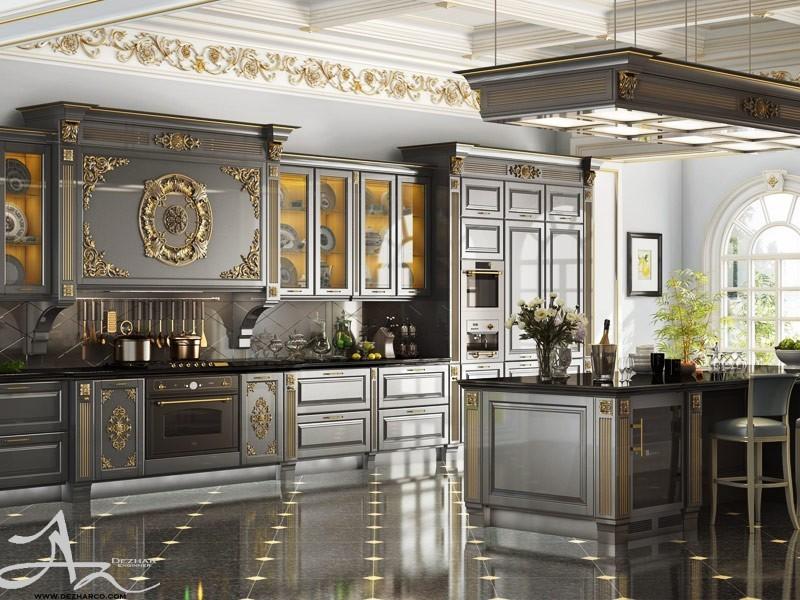 دکوراسیون داخلی کلاسیک آشپزخانه
