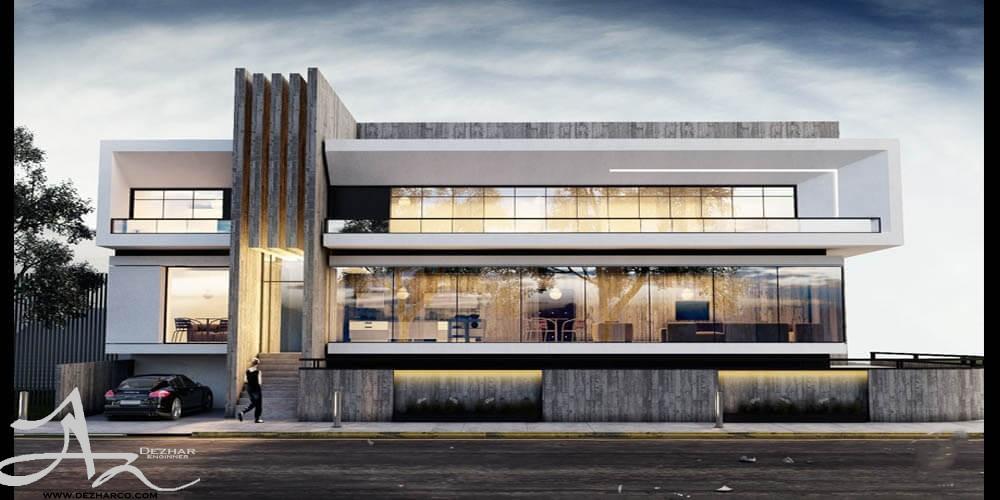 طراحی نما ساختمان مدرن