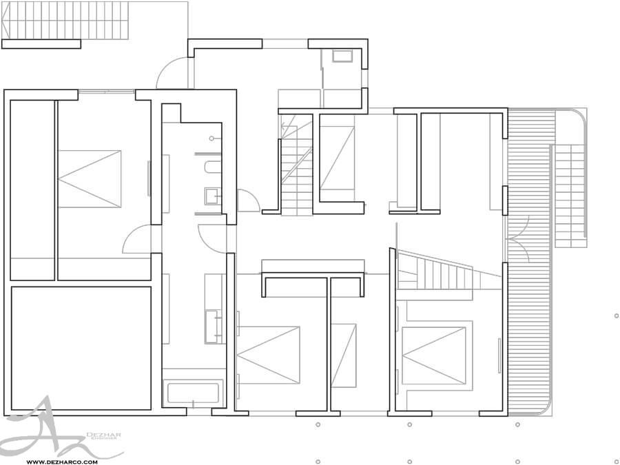 نمونه پلان طراحی ویلا