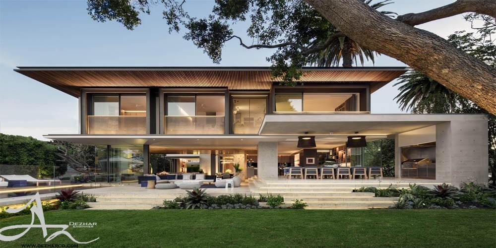 طراحی نما ساختمان 2 طبقه