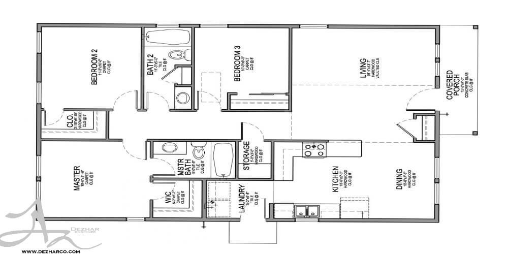 طراحی پلان ساختمان مسکونی