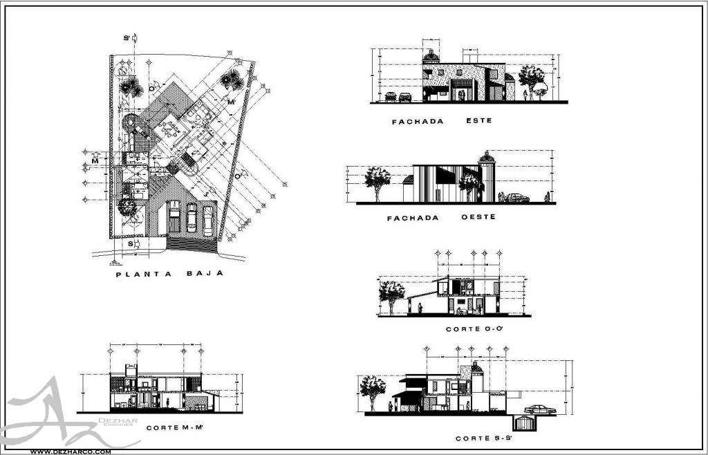 طراحی پلان ویلا