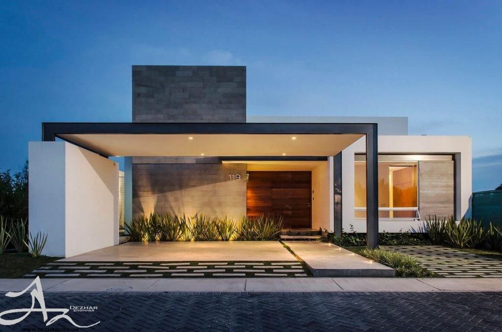 طراحی نمای ساختمان یک طبقه