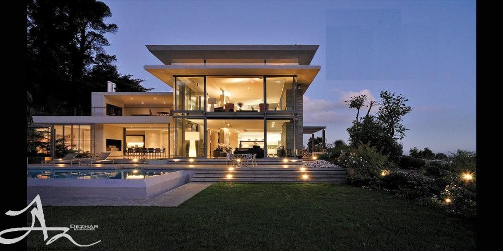 هزینه طراحی معماری ویلا