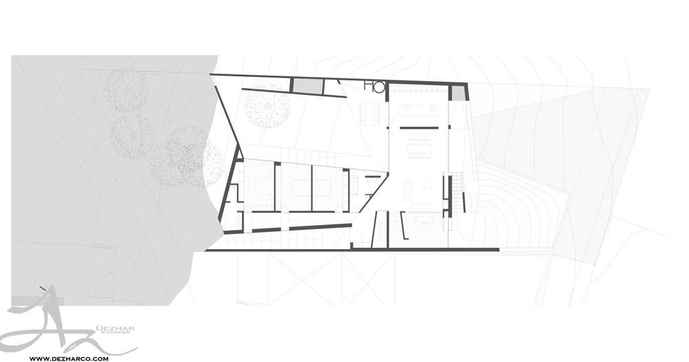 نمونه طراحی پلان ویلا مدرن