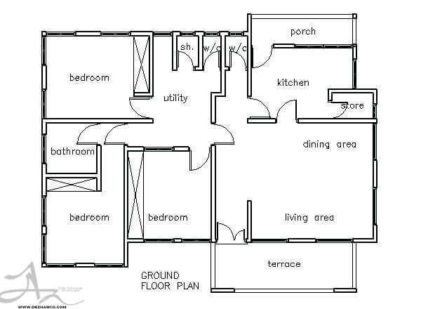 پلان آپارتمان های سه خوابه