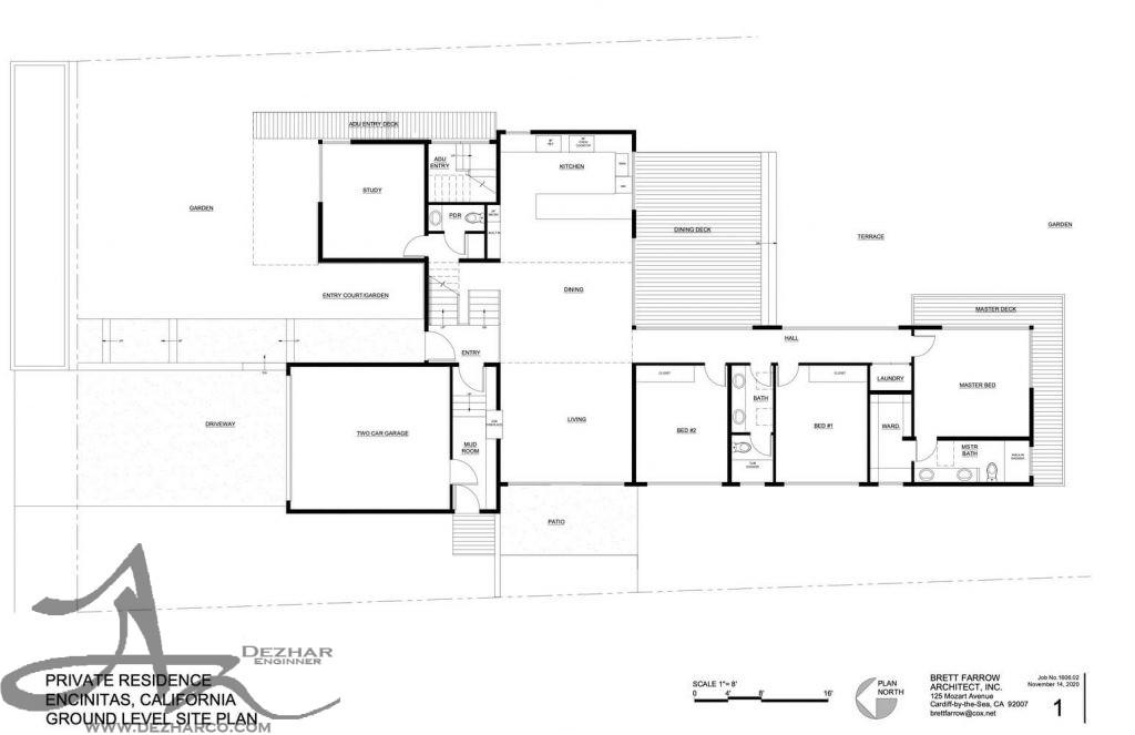 پلان طبقه اول ویلا کورنیش