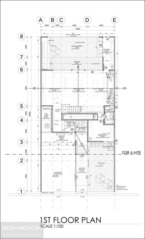 نقشه ویلا دوبلکس