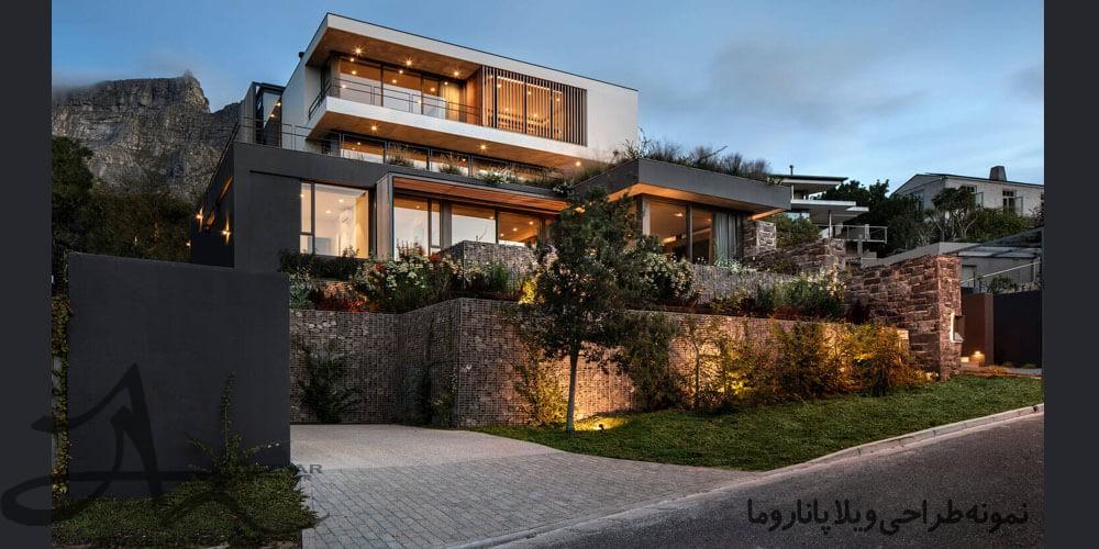 نمونه طراحی ویلا مدرن پاناروما