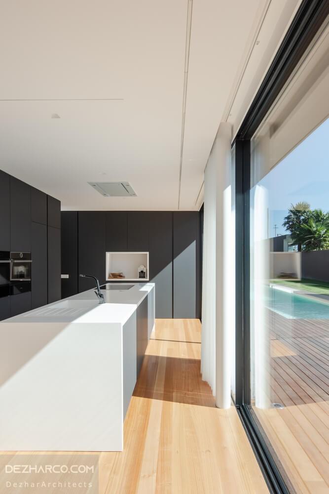 طراحی آشپرخانه ویلا مدرن