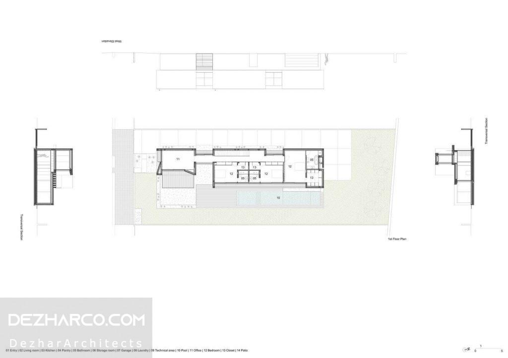 نقشه پلان طبقه دوم ویلا