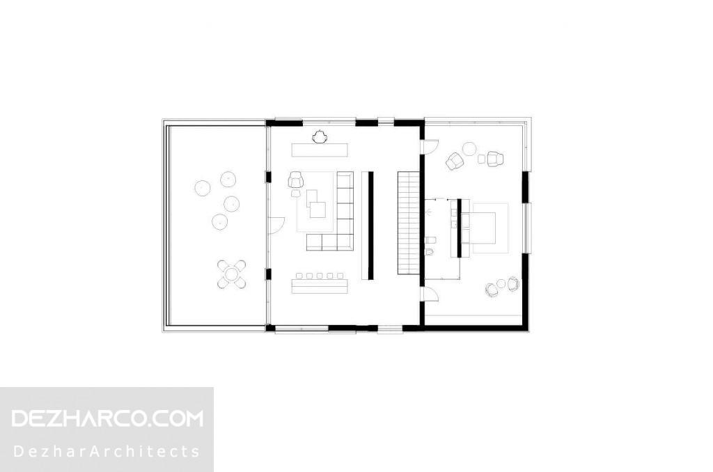 نقشه طبقه دوم ویلا مدرن