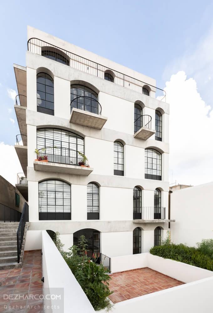 طراحی نما مدرن ساختمان