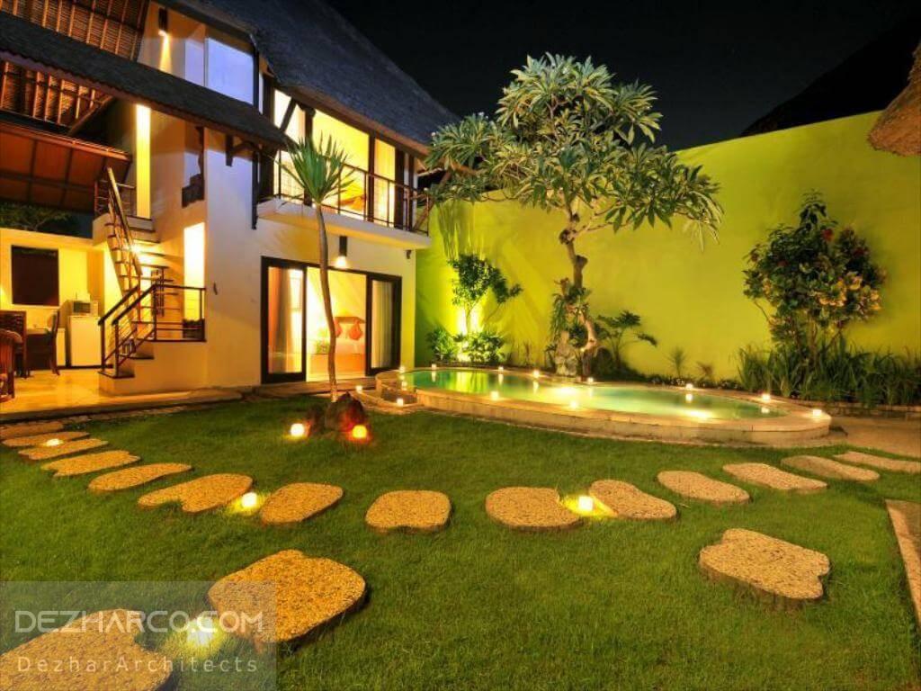 طراحی باغ ویلا به سبک سنتی