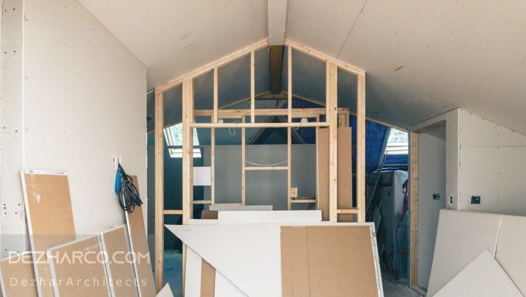 بازسازی داخلی سالن ویلا