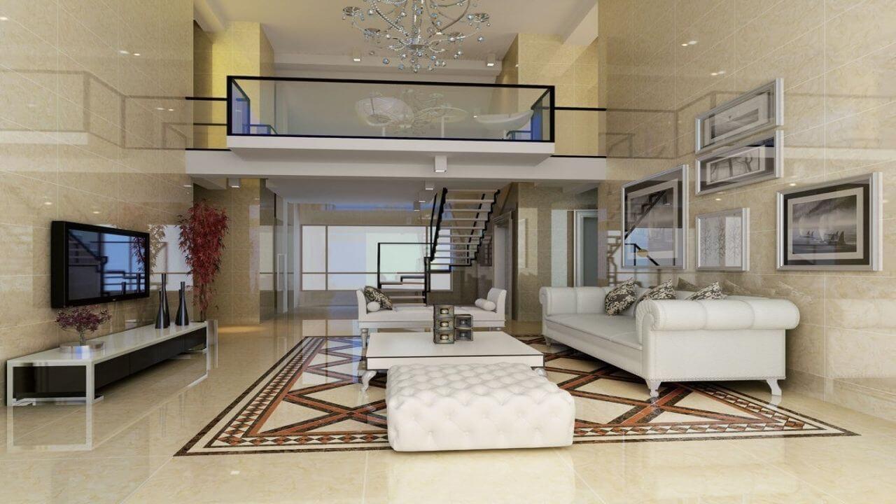 طراحی نما داخلی ویلا دوبلکس به سبک مدرن
