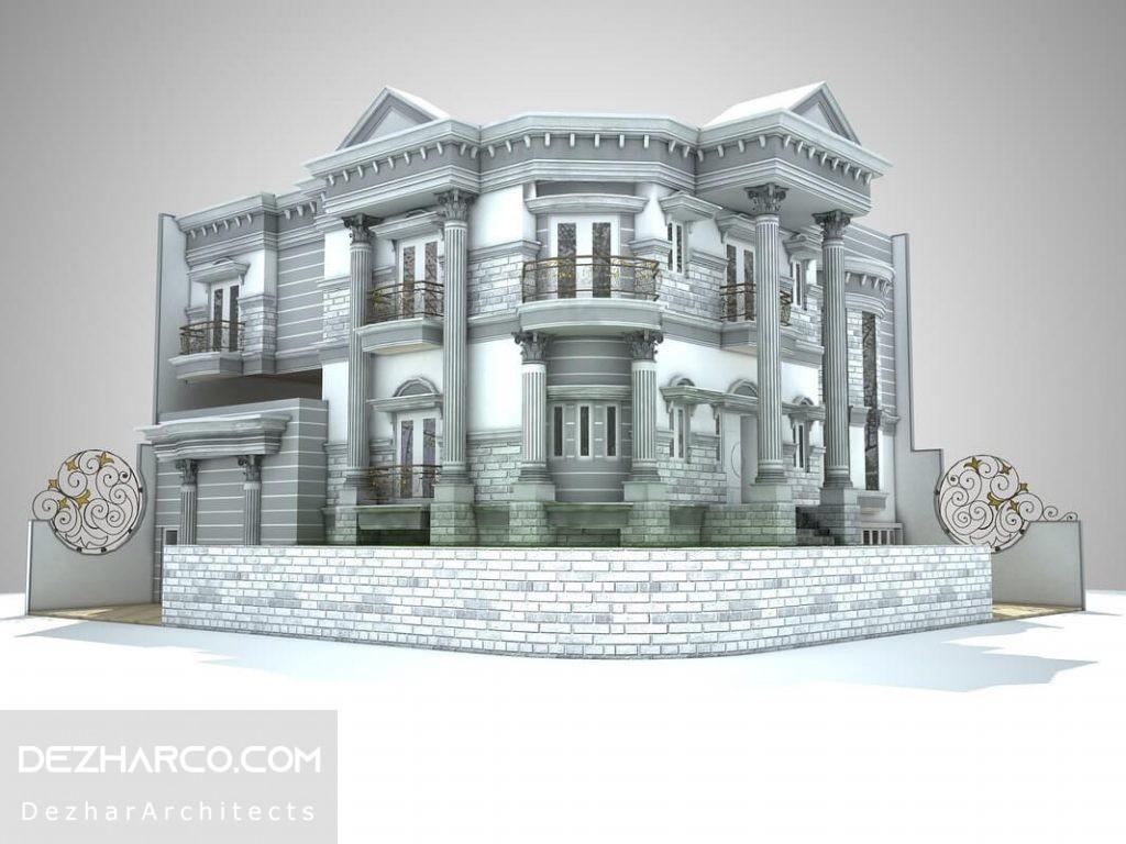مدل سه بعدی ویلا رومی