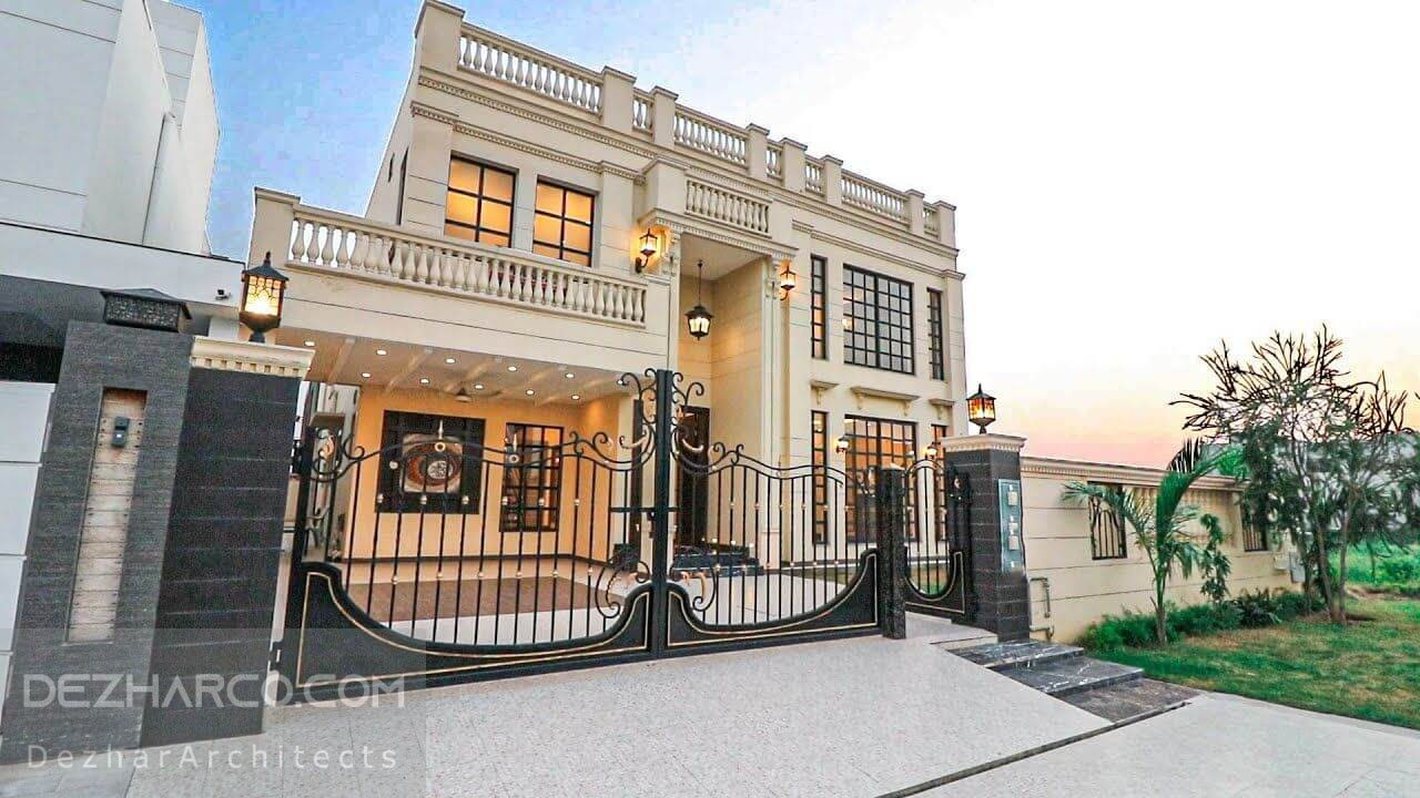 طراحی ویلا کلاسیک در مازندران