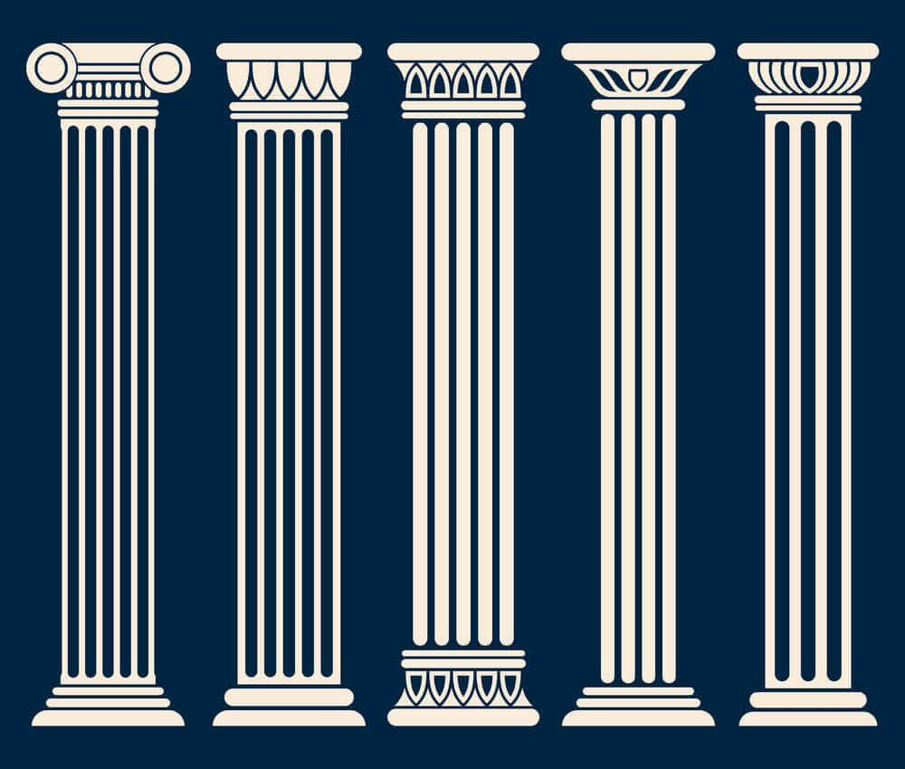 انواع ستون های نما کلاسیک