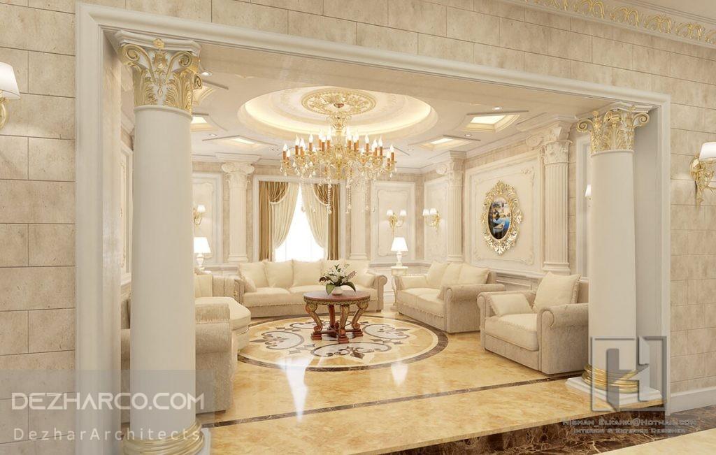 طراحی داخلی لوکس ویلا کلاسیک
