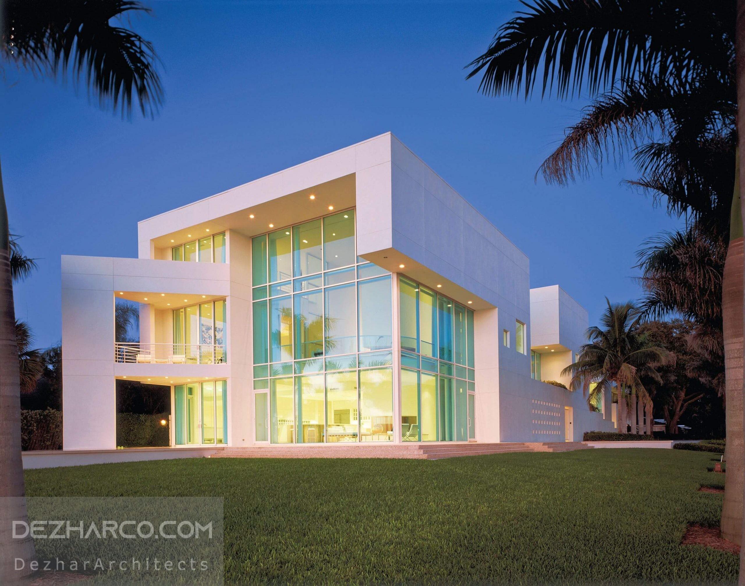 طراحی ویلا شیشه ای مدرن